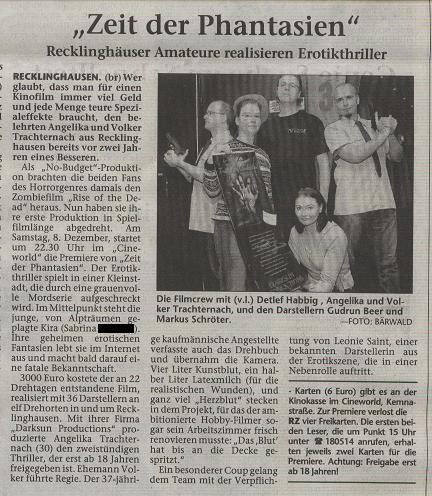 Bericht Recklinhäuser Zeitung